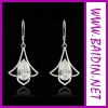 Ladies Jewelry.Hot Selling Fashion white gold earrings