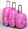 Pink Printed ABS Hard Luggage with Trolley