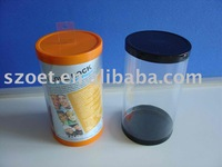Plastic tube packaging with injection molding or gluing seamed