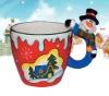 Ceramic x'mas mug snowman design