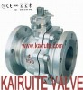 2 pieces stainless steel floating ball valve