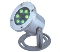 6*1W IP68 RGB DMX 512 Stainless steel housed LED underwater lights