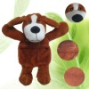 high 20cm cute microwavable plush toys dog filling seed