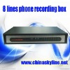 HOT / 8 lines telephone voice recorder box ,telephone recorder