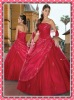 2012 New Strapless Prom Gown Ball-Gown Embroidery Taffeta Bateau Sweep Quinceanera Wedding Dresses