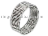 fashion stainless steel mesh rings fashion jewelry