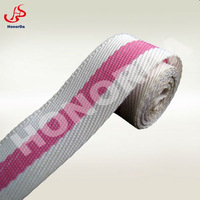 22mm white and pink thin polyester webbing