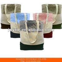 Promotional Tri-color Canvas Tote Bag