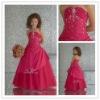 Cute A-line Halter Beaded Hot Flower Girls' Dresses