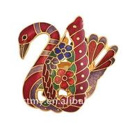 Fashion jewelry swan brooch (CTXZ119)