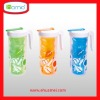 Plastic clear flower jug with lid and cup set