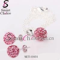 Austrian crystal earrings necklace sets jewelry