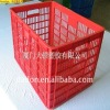 plastic crate used for packing bottles