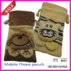 plush knitting mobile phone pouch (manufactory)