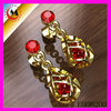 INDIA FASHION EARRINGS MOLD WITH RUBY ZIRCON,GOLD EARRING NEW MODEL 2013,RUBY ZIRCON EARRINGS JEWELRY