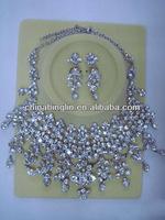 popular rhinestone wedding jewelry set