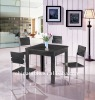 modern wood dining table with chairs