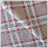 100%cotton plaid print flannelette fabric for lady pajamas