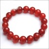 10mm round red agate bracelet