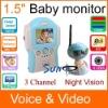 1.5 inch 2.4GHz baby monitor
