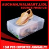 Clear PP shoe storage box with handle for men