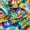 100 Woven rayon peacock fabric prints