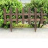 rustic wooden gardening screen & flower fern