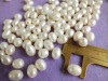 9-10mm big hole white freshwater pearl rice pearl beads loose pearl beads