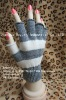 100% Acrylic plain color Knit Magic Gloves with PVC dot palm