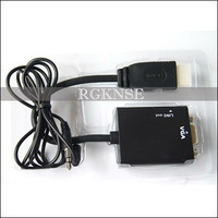 HDMI to VGA Male Support Audio Output HD Cable Converter Adapter 1080P