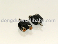 "3.5mm Stereo Male to 2 RCA Female ""Y"" Splitter Adapter"