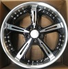 Custom styling aluminum alloy wheel rim--18 and 19 inch forward and rear wheels hyper silver machine face