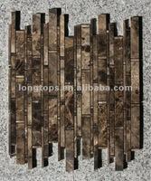 mosaic Bamboo Joint dark emperador