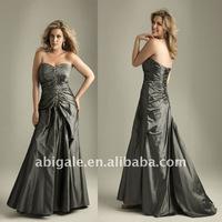 Beading Draped Sweetheart Bodice Plus Size Prom Dress