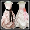 2012 New Coming Hot Sale Pink Satin Flower Girl Dress