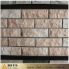 pink crytal flagstone mat mesh stone tile(stone manufacturer)