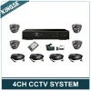 H.264 4CH DVR Combo CCTV Camera KITS