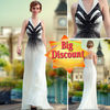 DORISQUEEN A Line Halter Fashion Long Evening Dresses