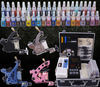Complete Tattoo Kit 4 Machine Guns Set Equipment Power Supply 56 Color Inks
