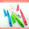 High quality non stick fruit knife with sheath /colour balde paring knife