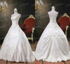 RP-004 Newest Kingly Sweetheard Strapless Embroidery Real Model Satin Ball Gown Wedding Dress 2012