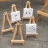 mini beech wooden easel and lined canvas set