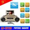 Portable Karaoke DVD Player with MIC/TV/AV/FM/USB/SD/Game/Li Battery MX-1011D