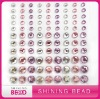 Latest hot sale mix color mix size round rhinestone sticker