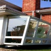 flat roof luxry look winter garden sun house