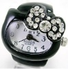 black ring watch fashion watch band rings
