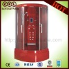 red hydromassage steam shower cabin