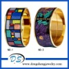 best selling super balance mood purple enamel gold bangles
