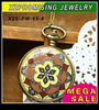 Hot sale wholesale enamel flower pocket watch for gift with chain