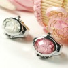 fashion ring watch oval rose women finger ring watch